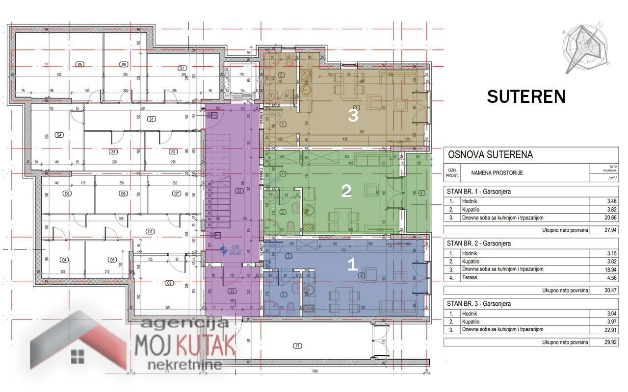 Novogradnja - stan br.2 (30,47m2)