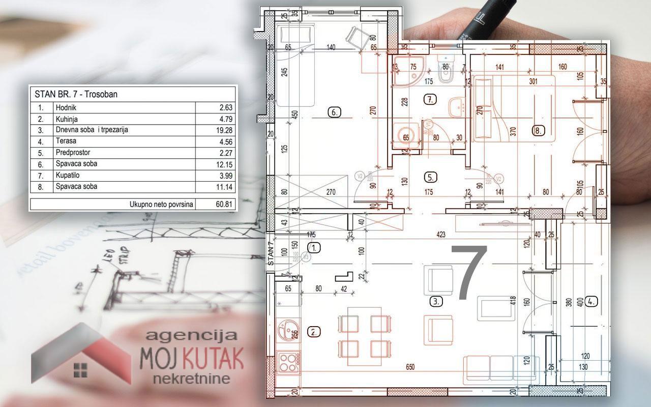 Novogradnja - stan br.7 (60,81m2)