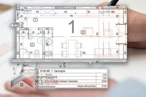 Novogradnja - stan br.1 (27,94m2)